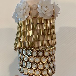 Jewelry - Curated bracelet collection -WHITE/Gold
